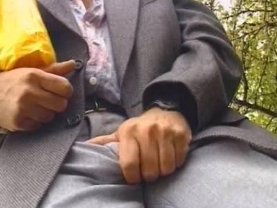 Milf hat Outdoorsex mit einem Spanner